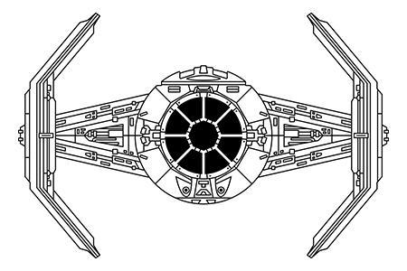 star wars episode iv ships on pantone canvas gallery. Black Bedroom Furniture Sets. Home Design Ideas