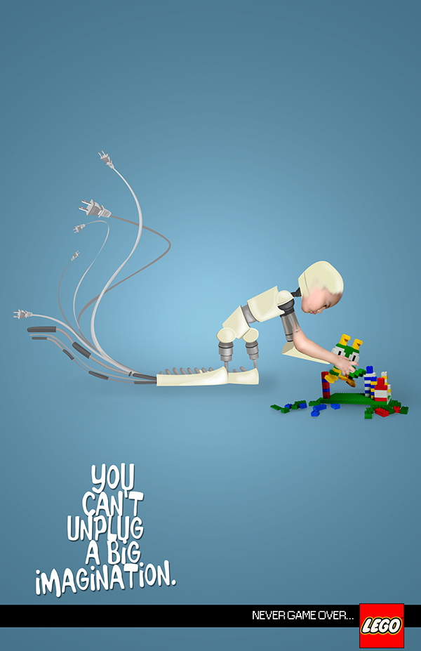 senior thesis  ad campaign for lego on behance