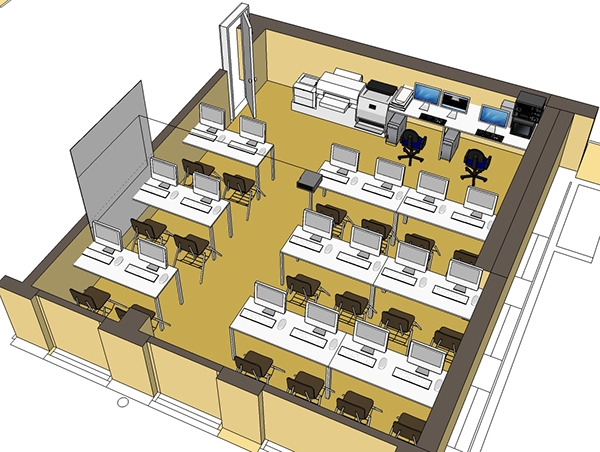 Multimedia Classroom Design ~ Designing a multimedia computer lab on behance