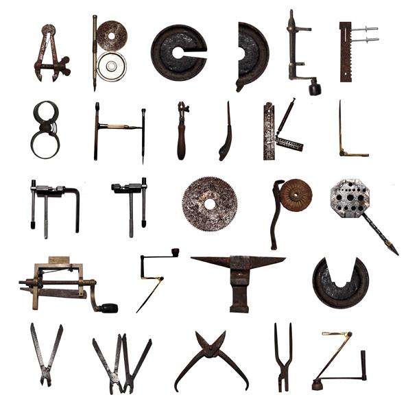 mechanical typography on behance