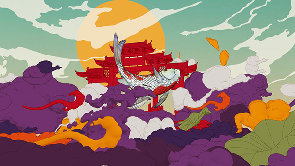 2D Animation vfx HBO ident Mirari Jimmy Yuan Michelle Xie Asia Festival