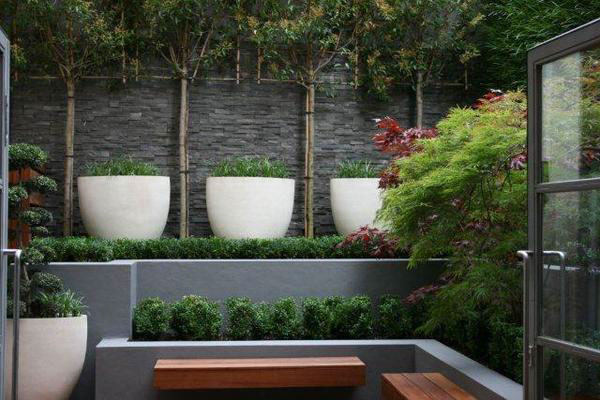 Contemporary court yard in holborn london on behance for Contemporary courtyard designs
