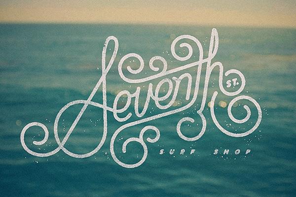 Surf Shop Logo Seventh st Surf Shop Logo on