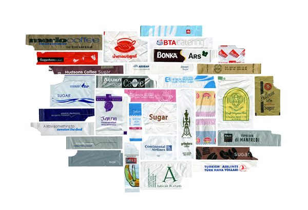 this is my letter to the world my trip around the world in sugar packets on behance 53740