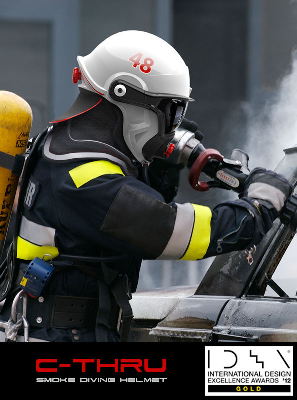 Smoke Diving helmet  firefighter  Rescue equipment  helmet  headsup display  retroreflective technology