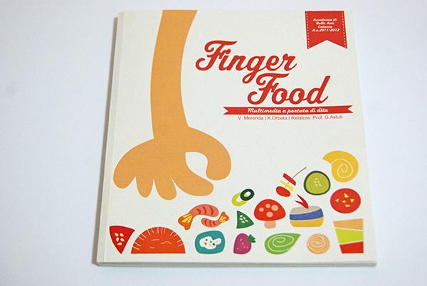 Fingerfood vintage crabtoon design Food  cooking Multimedia