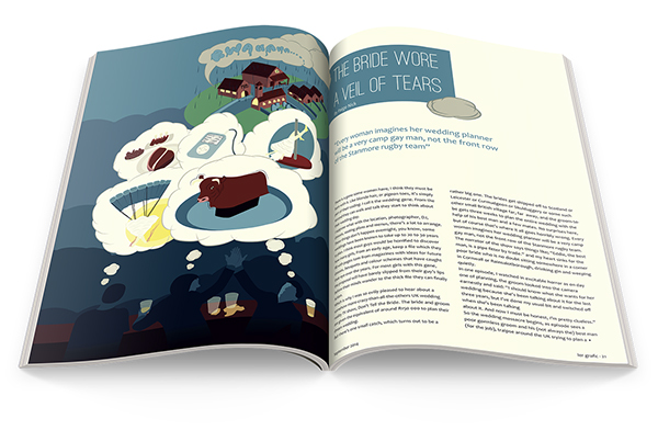 DUT magazine Layout quirky funny