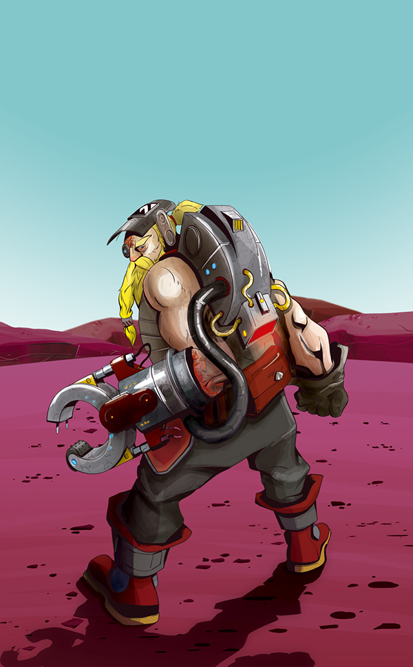 overwatch torbjorn on behance
