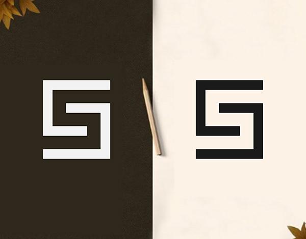 Letter S logo | Negative space