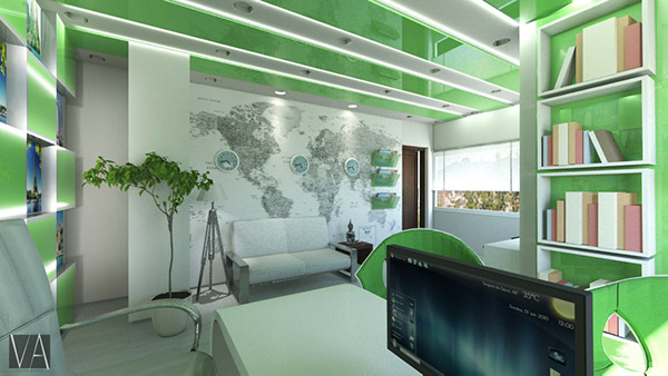 Travel agency on behance for Travel agency office interior design ideas