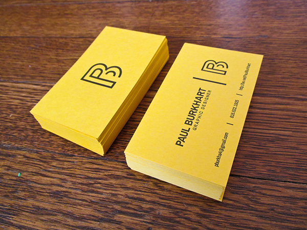 Personal Business Card Letterpress On Behance