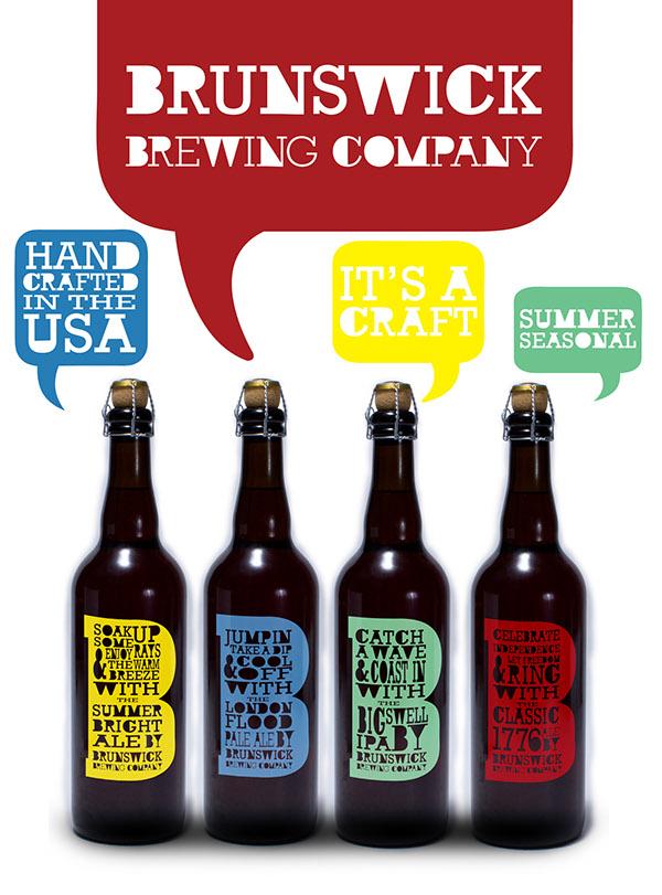 entrepreneurship   package design  beer label bottle design Brunswick Brewing