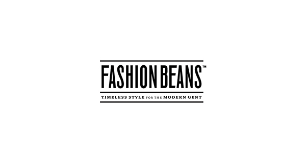 FASHIONBEANS: Timeless Style for the Modern Gent — logo and magazine  masthead design.