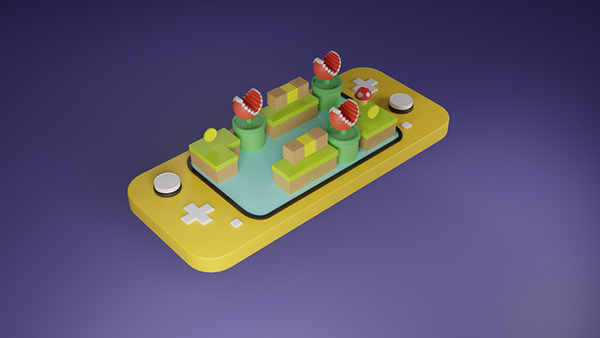 Gamepad joystick 3d blender