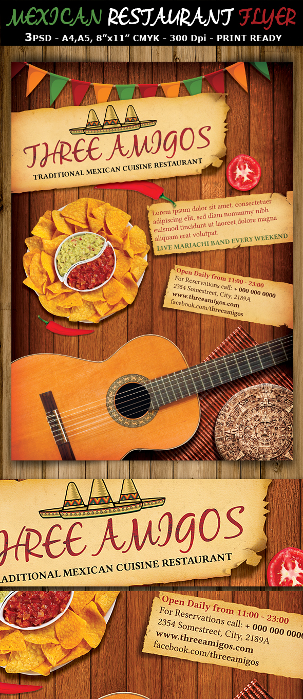 Mexican Restaurant Ad Flyer Template on Behance – Restaurant Flyers Templates