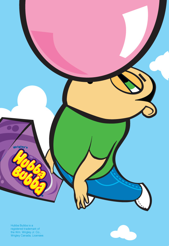 Character Design Job Canada : Hubba bubba bubble gum campaign on behance