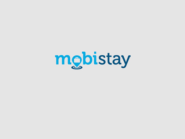 Mobistay mobile hotel booking app logo ontwerp design on for Hotel booking design