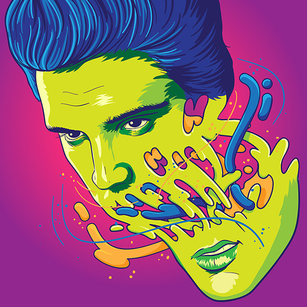 Happily melting Elvis by Rubens Cantuni