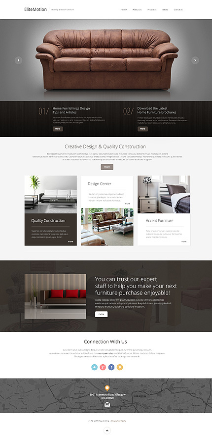 Furniture Responsive Bootstrap Website Template on Behance