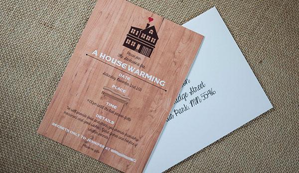 housewarming invite Invitation rustic whimsical woodsy