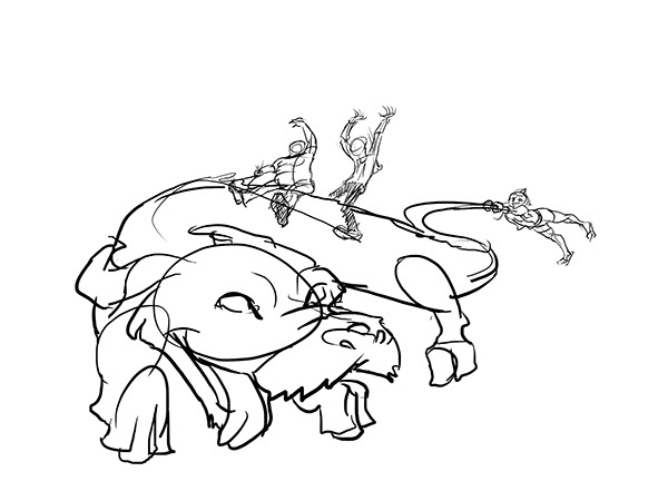 falcor the luck dragon coloring pages | The Never-Ending Friendship on Behance