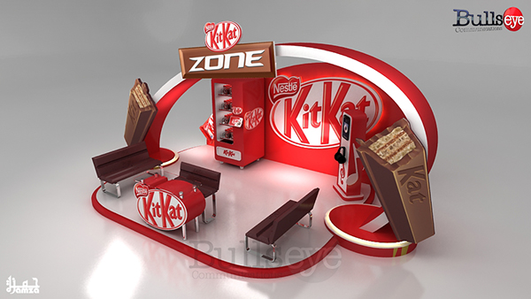 Exhibition Stall Zone : Kitkat zone on behance