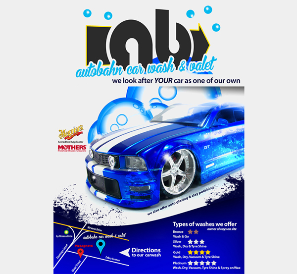 Autobahn Car Wash Flyer On Behance