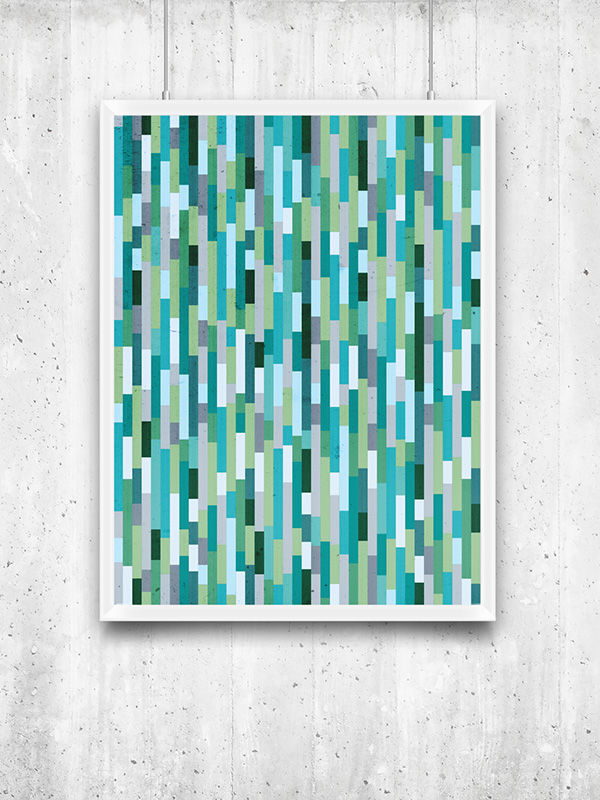 print poster pattern texture color City by the Ba san francisco series