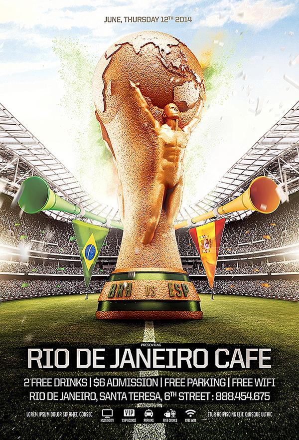 world cup 2014 editable flyer template on behance