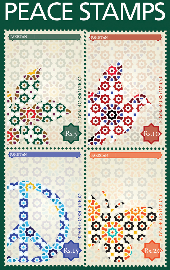 Postage Peace Stamp Design On Behance