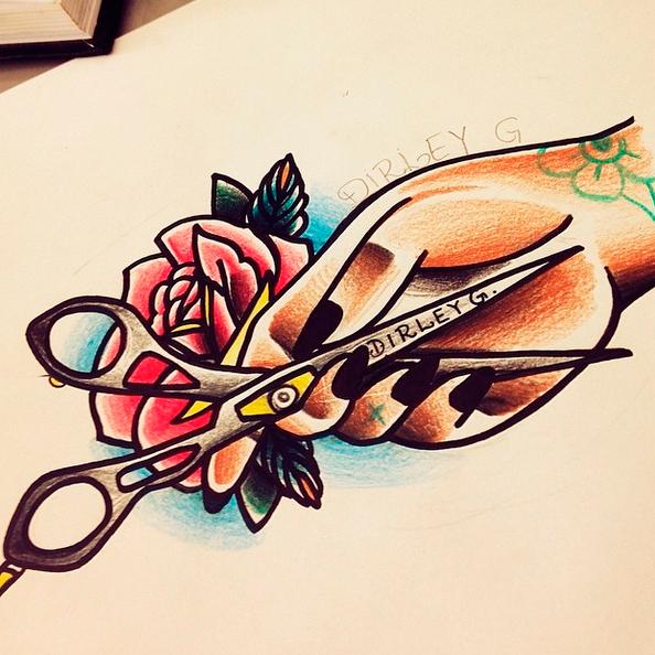 Scissor Tattoos Scissors Tattoo And Scissors: Scissors Tattoo On Behance