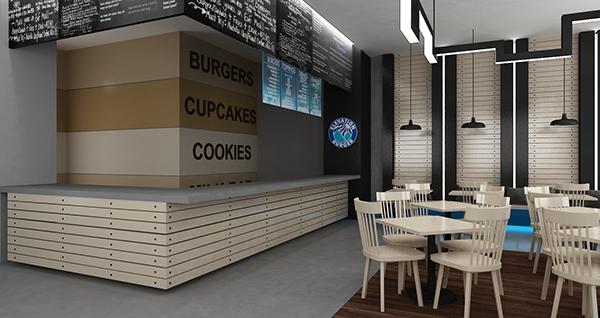 Wood Elevation Burger : Elevation burger on student show