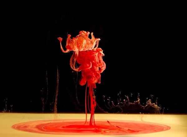paint water underwater alien world ink color liquids