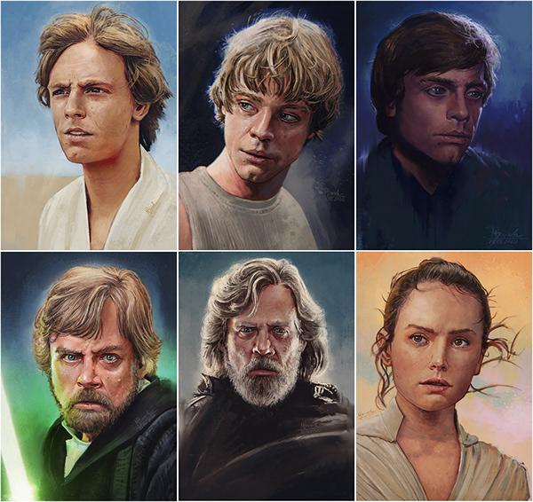Skywalker - 6 portraits