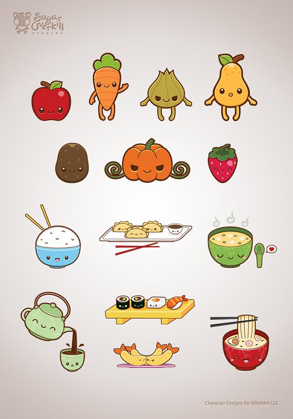 Cute Food Illustration Set on Behance