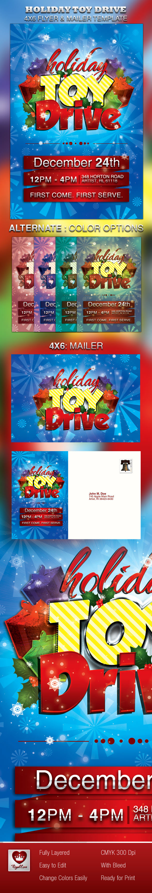 Holiday Toy Drive Flyer & Mailer on Behance
