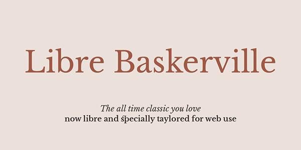 libre baskerville font download