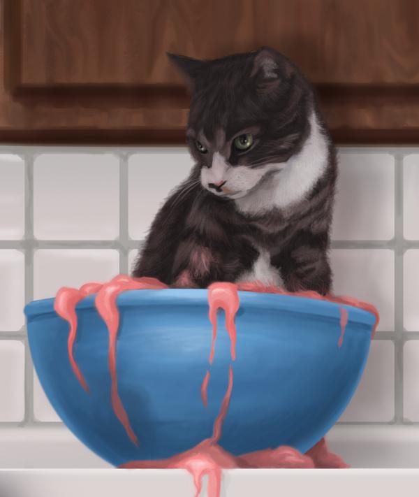 Gorilla Chef  Leela mixing bowl Cat