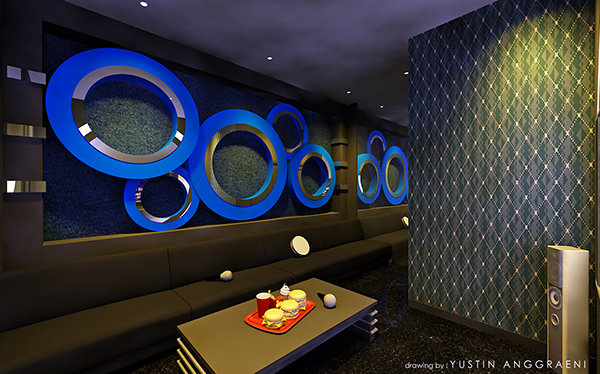 Karaoke room design on behance for Design room karaoke