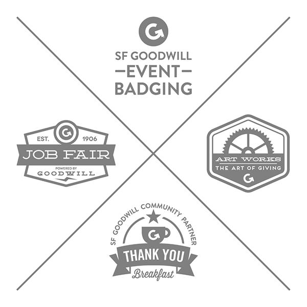 badging brand goodwill Jobs community Event non profit social