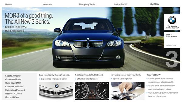 My Bmw Usa >> Bmw Usa Website Concept On Behance