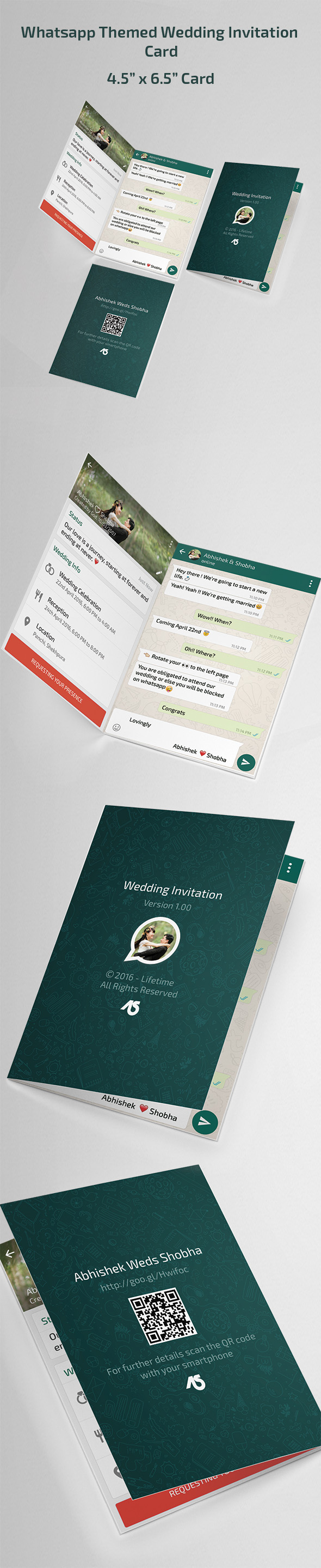 Whatsapp Themed Wedding Invitation Card Free Download On