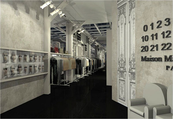 Retail boutique maison martin margiela paris fr on behance for Maison martin margiela paris