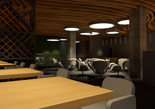 Interior project for a restaurant submission on student show