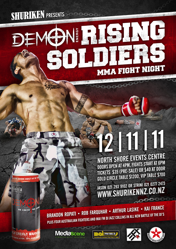 MMA Event - Rising Soldiers on Behance
