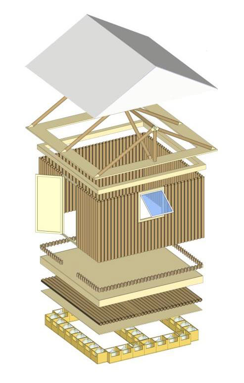 Shigeru Ban Paper Log House Plan Plans