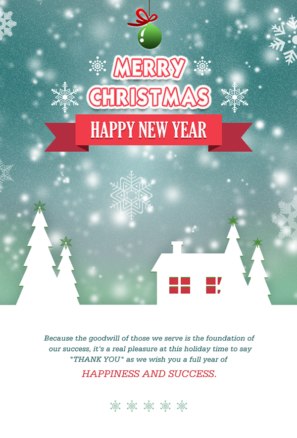 Create Merry Christmas Email Template For Send Wishes T On Behance