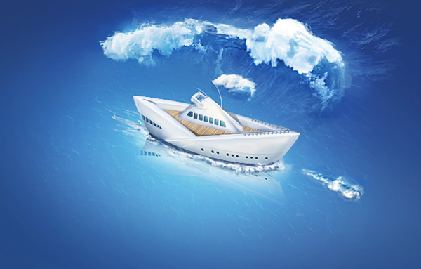 water yacht Ocean pape r luxury Vip samborek Icon design ship boat