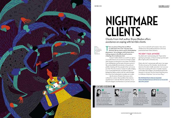 nightmare Client computer arts designer magazine