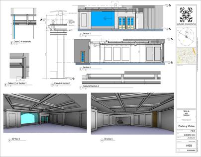 Remodelaci n salon de usos m ltiples on behance for Salon de usos multiples programa arquitectonico